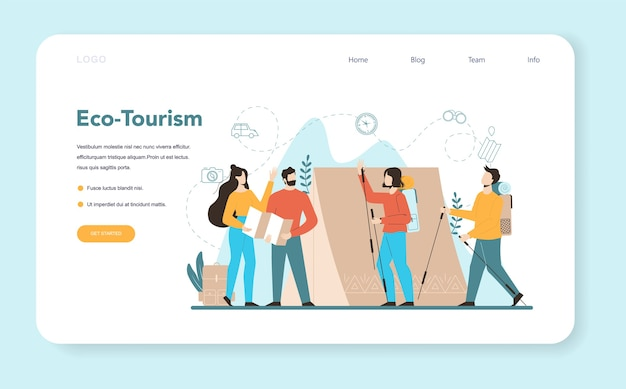 Веб-баннер или целевая страница турагента