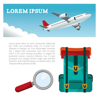 Travel airplane backpack search flyer