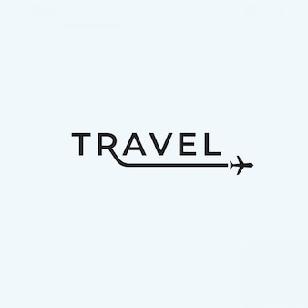 Travel airplane logo text design inspiration.