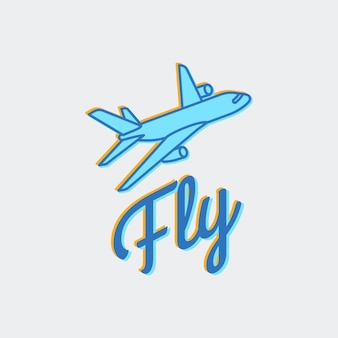 Travel or airplane logo vector icon