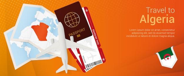 Travel to algeria pop under banner trip banner