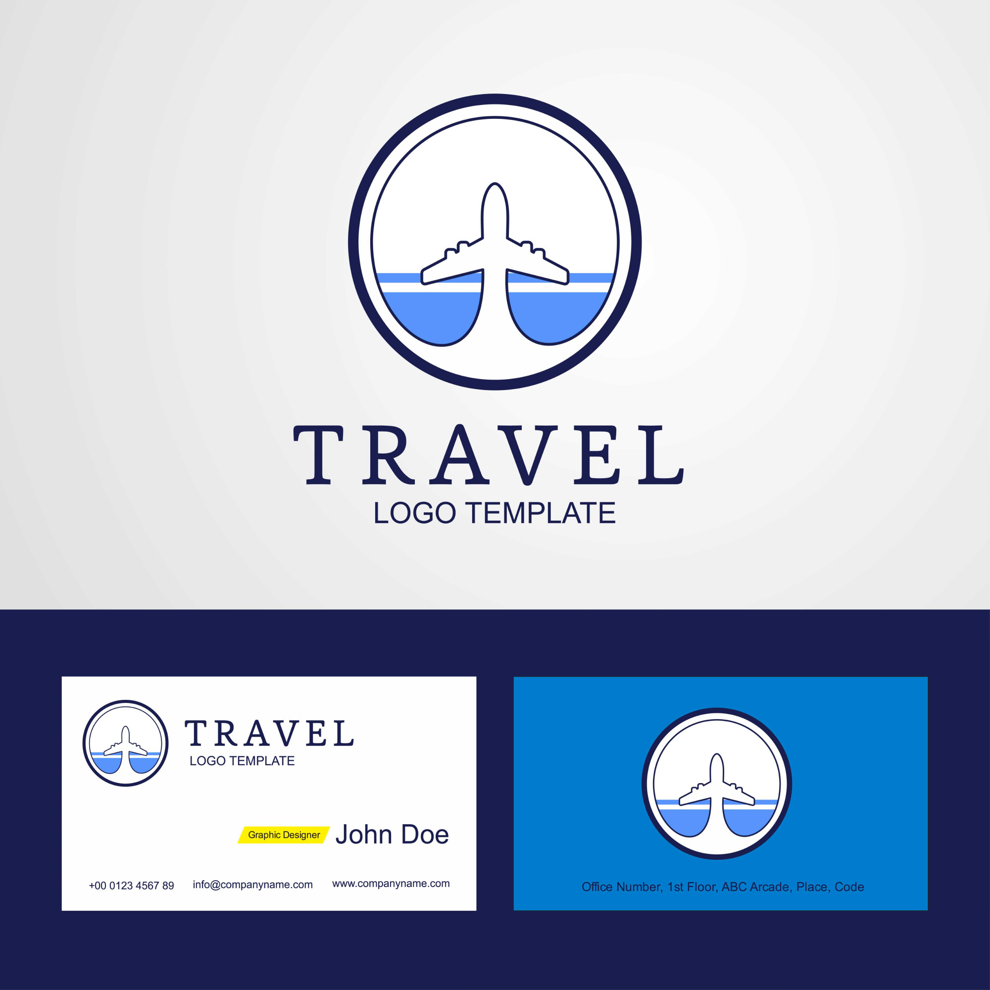 Travel Altai Republic flag Logo and Business card design