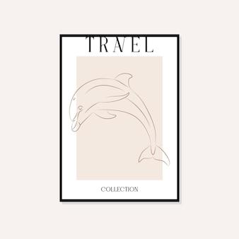 Путешествия и достопримечательности минимальные иллюстрации вектор стены искусства дизайн плаката