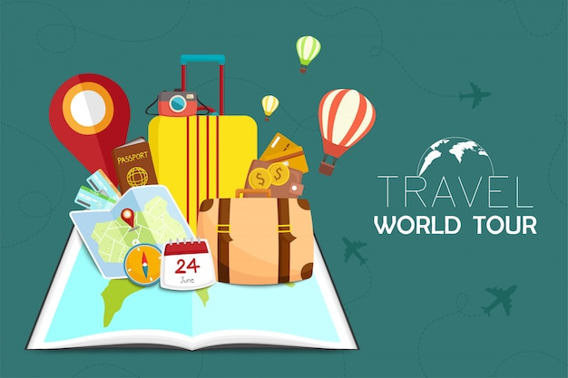Иллюстрация путешествий и туризма