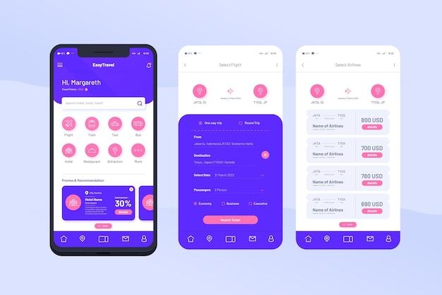 여행 앱 인터페이스 개념
