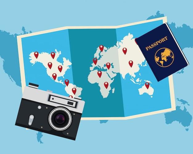 세계 개념 벡터 여행