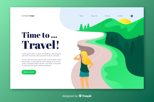 Целевая страница кругосветного путешествия