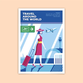 Плакат о кругосветном путешествии