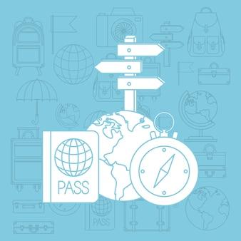 세계 여행 아이콘 설정