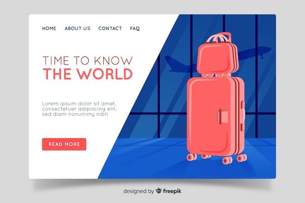 Travel around the world landing page