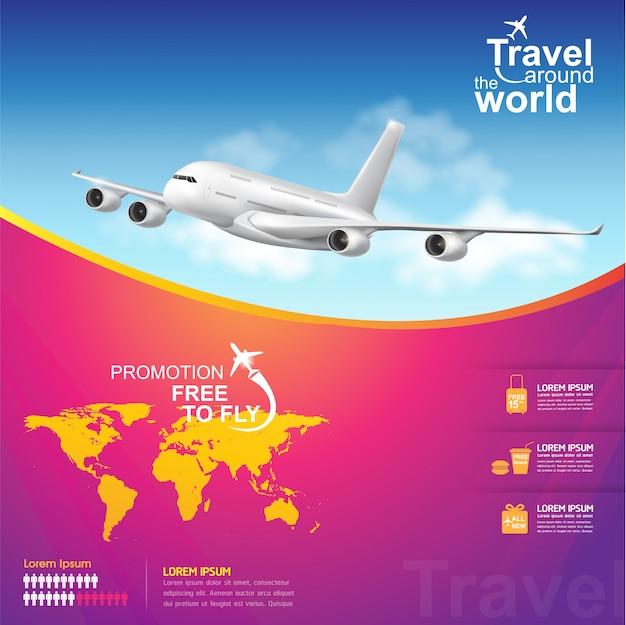Travel around the world poster