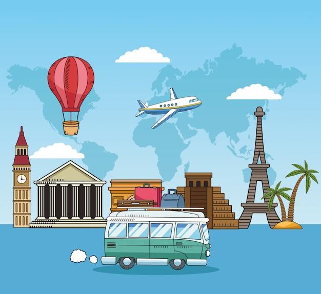 Travel around the world with van