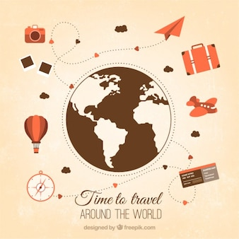 Travel around the world with vintage elements