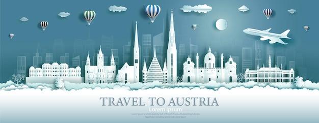 Путешествие по достопримечательностям австрии в городе вена с воздушными шарами