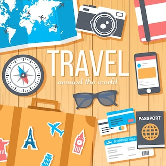 Travel background design