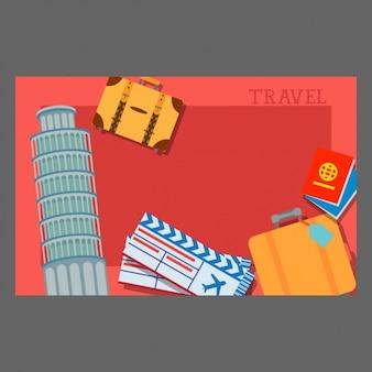 여행 배경 디자인