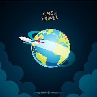 Sfondo di viaggio in stile realistico