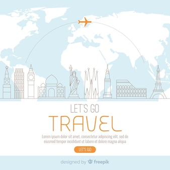 Travel background template