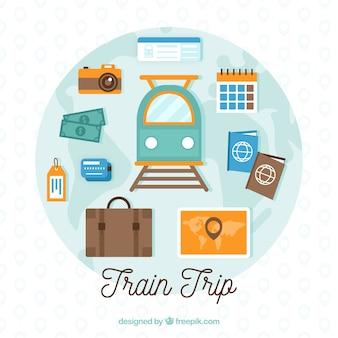 要素と列車で旅行の背景