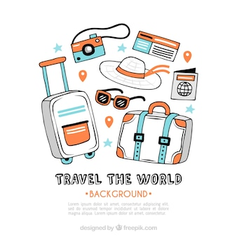 Travel background with luggage