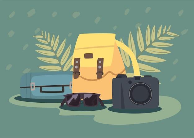 Дорожные сумки и значки камеры bon voyage