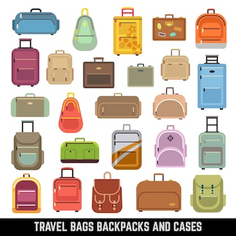 Travel bags backpacks and cases color