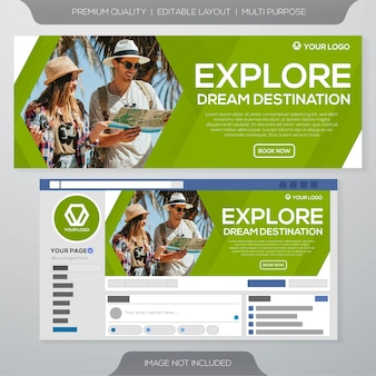 Travel banner ads template design