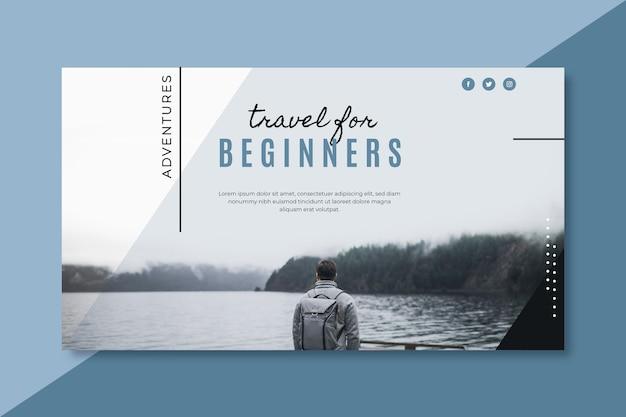 Шаблон блога туристического баннера
