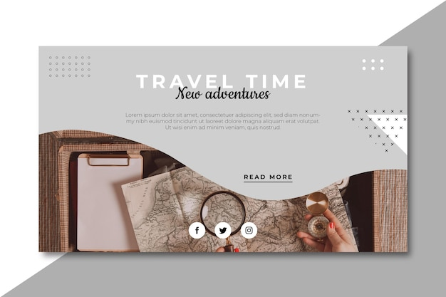 Travel banner blog