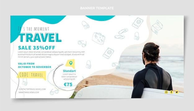여행 배너 디자인 서식 파일