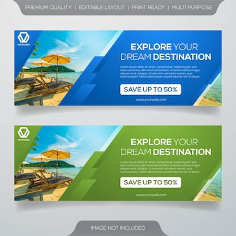 Travel banner template