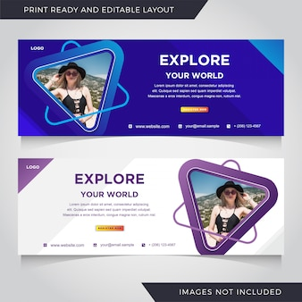 Travel banner template.