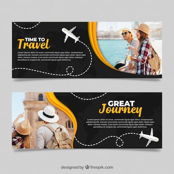 Travel banners with photo