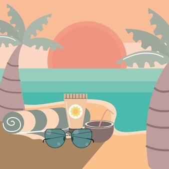 旅行ビーチでの休暇