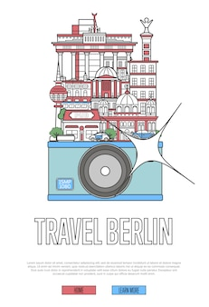 Travel berlin web template with camera