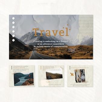 Travel blog website template set