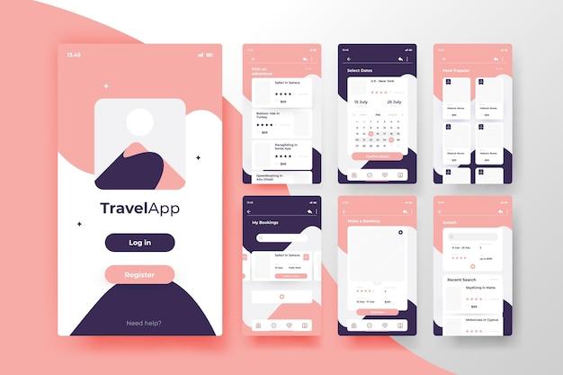 Concetto di app di prenotazione viaggi