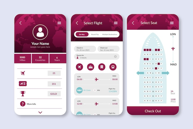 Travel booking app with simplistic interface