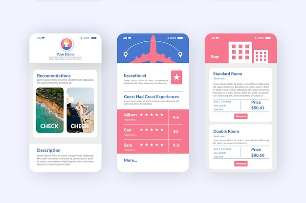 Travel booking app