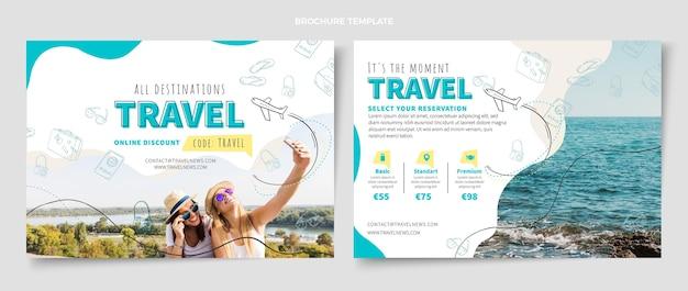 旅行パンフレットのデザインテンプレート