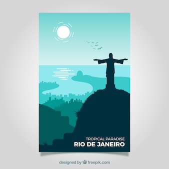 Travel brochures with silhouettes