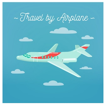 Travel by airplane. tourism industry. airplane travel. mode of transportation. vector illustration. flat style