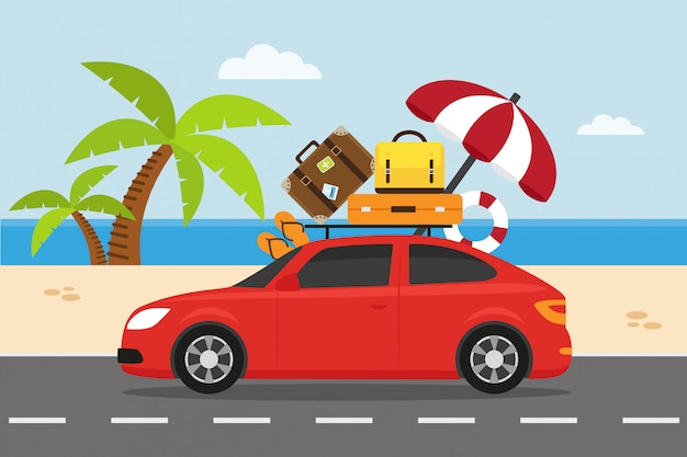 Travel by car on summer holiday