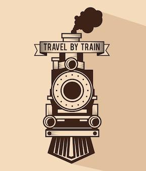 電車のコンセプトアイコンのベクトル図のデザインで旅行