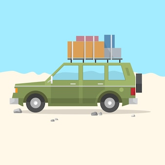 Travel car suv - road trip