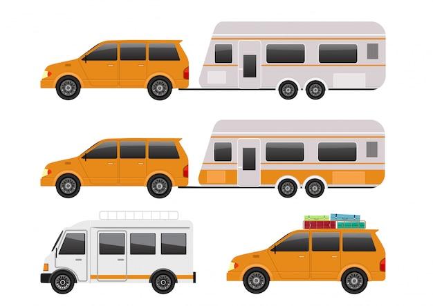 Коллекция туристических автомобилей.