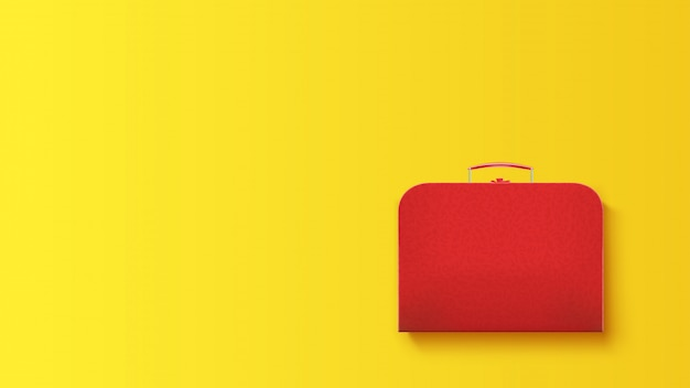 Travel case on yellow