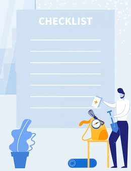 Контрольный список путешествий, планировщик путешествий или покупок.