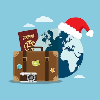 Travel in christmas holiday