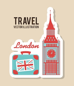 Travel design over beige background vector illustration
